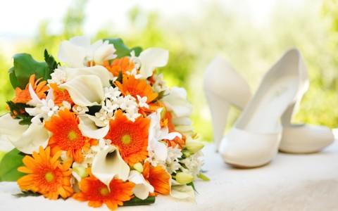 美丽的海芋花花束