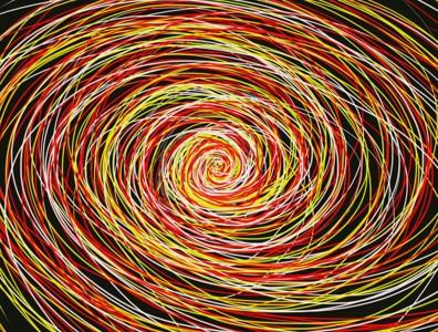 彩色抽象螺旋壁纸