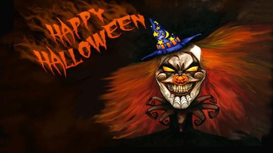 万圣节快乐恐怖小丑背景