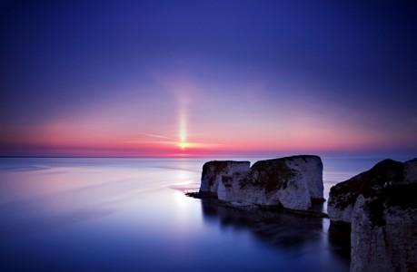 华丽的海洋日落壁纸