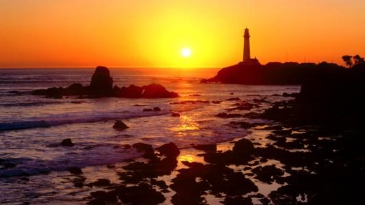 加州日落背景