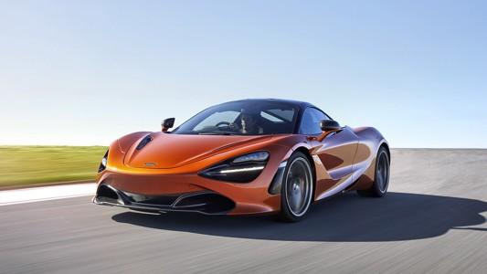 橙色的麦克拉伦720s汽车壁纸