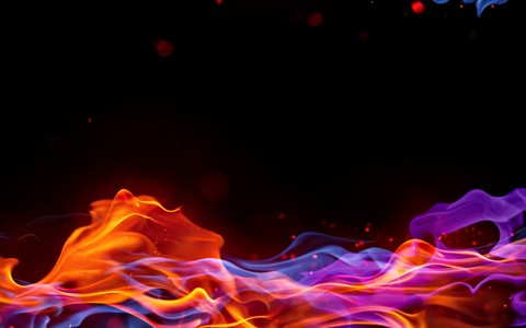 抽象彩色火焰壁纸