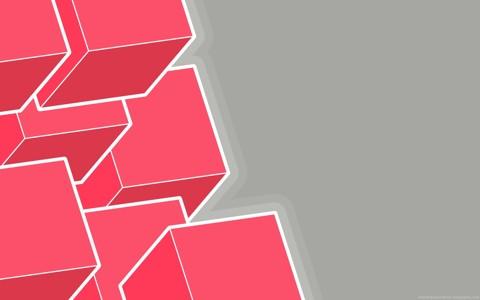粉色方块电脑壁纸