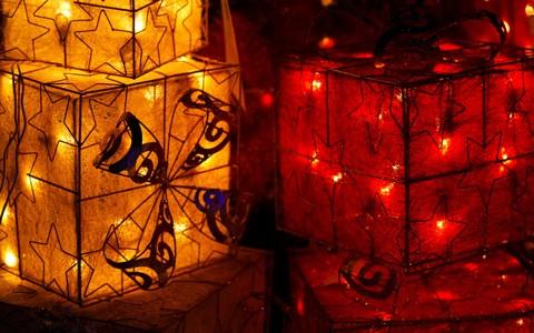很酷的圣诞蝴蝶结壁纸