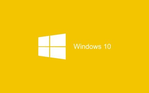 Windows 10的黄色墙纸