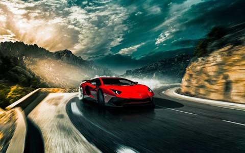 红色兰博基尼Aventador汽车壁纸
