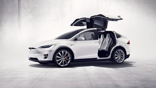 特斯拉Model X侧视图壁纸