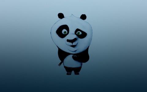 手绘可爱熊猫背景