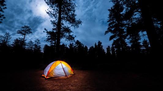 帐篷露营自然宽屏壁纸