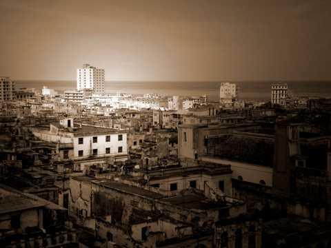 古巴首都哈瓦那建筑光景
