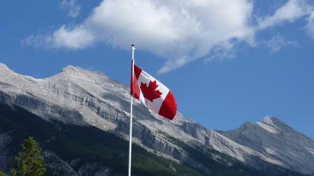加拿大红色枫叶国旗图片