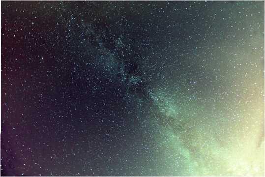 灿烂的银河景物