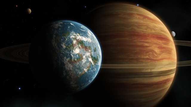 体积硕大的木星图片