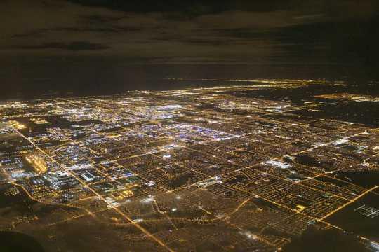 俯看都市建筑光景图片