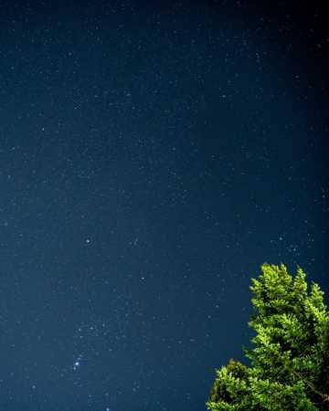 高清蓝色夜空图片