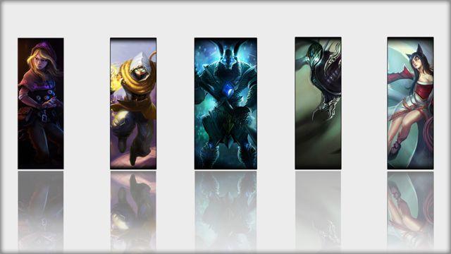 五个LOL英雄图片