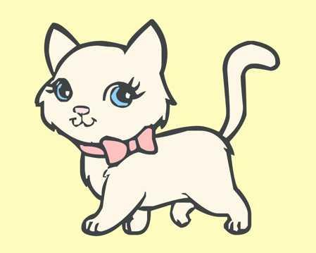 卡通小猫咪图片