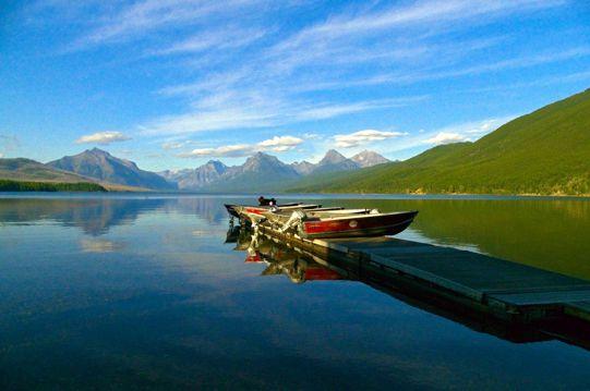 加拿大麦当劳湖自然景物图片