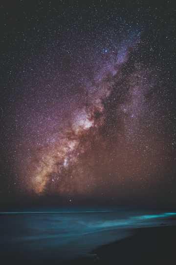 唯美银河夜空图片