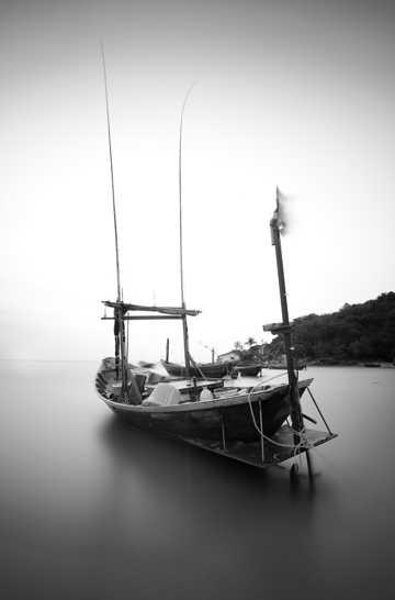 唯美船舶码头风景图片
