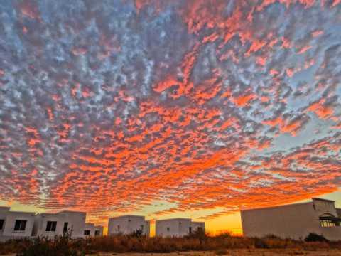 墨西哥晚霞天空景观