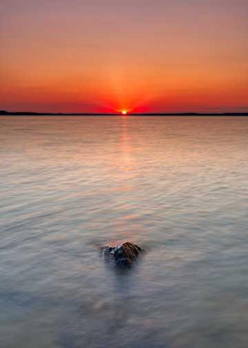 海上朝阳风光高清图片