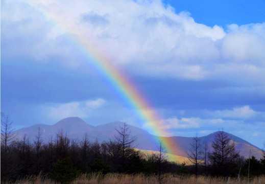 彩虹天空景物图片
