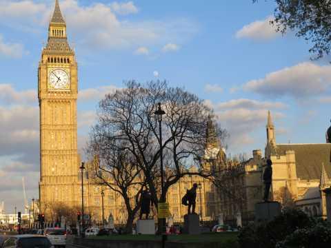 英国伦敦大笨钟建筑景物图片