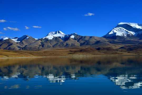 西藏拉昂错湖景致图片