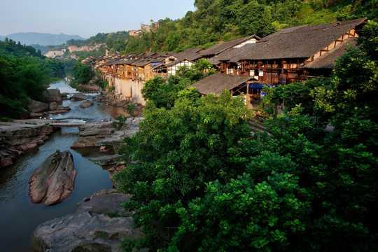 重庆中山古镇景色图片