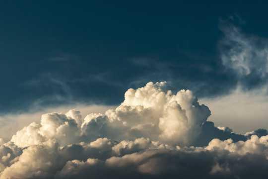 蓝天云海景致图片