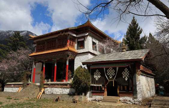 西藏措宗寺景色图片