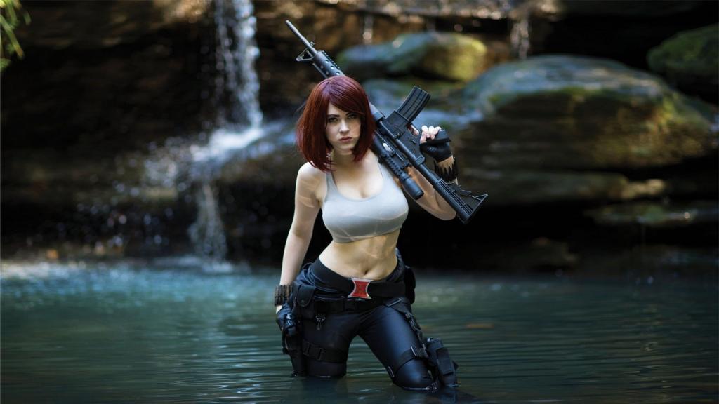 黑蔡琴cosplay寡妇照性感图片