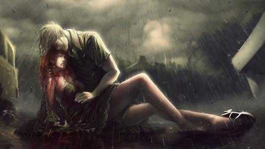 在雨中出血
