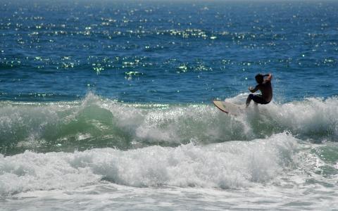 冲浪小波浪