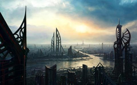 滨江未来的城市