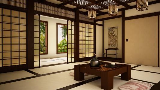 棕色的房间