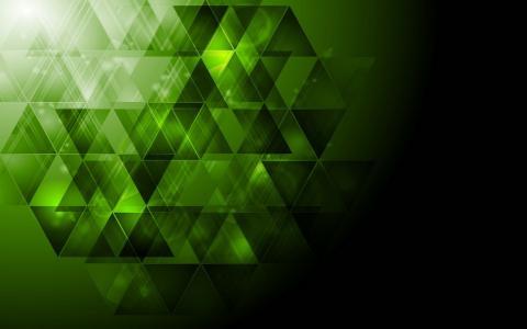 绿色的三角形