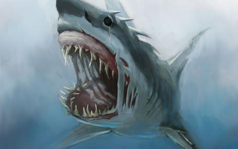 令人毛骨悚然的鲨鱼