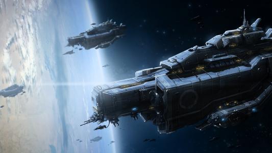 太空飞船攻击地球