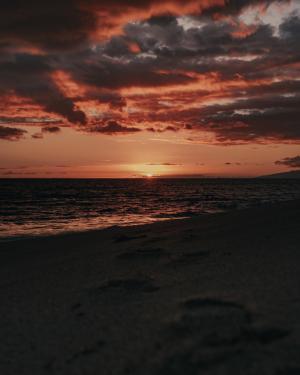 海边的落日美景