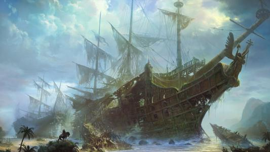 被遗弃的船