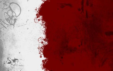 红色和白色的那些纹理