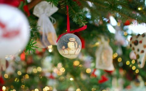 雪人在圣诞摆设