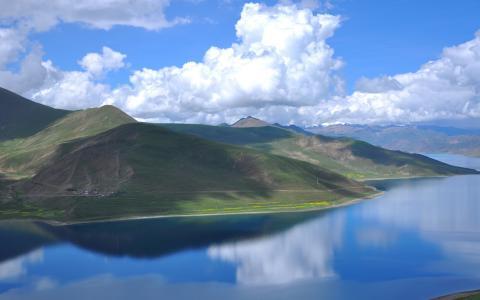 西藏羊卓雍措唯美风景