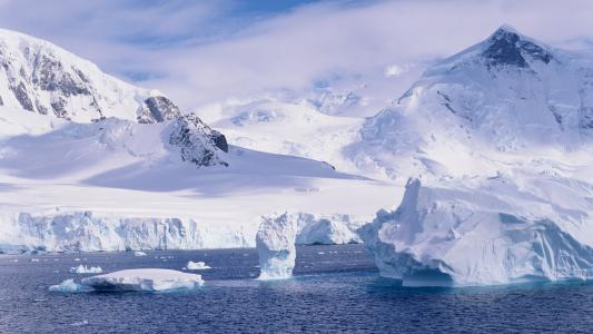 唯美的冰川风光