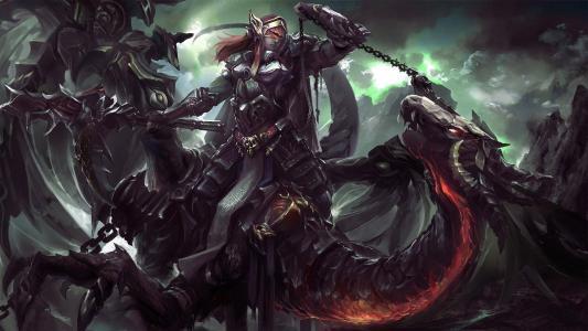 骑龙的女战士