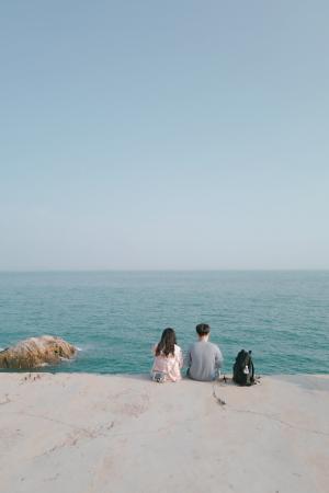 520情侣海边背影写真