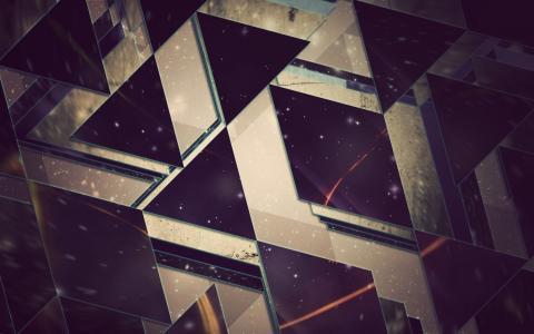 钻石和三角形的形状